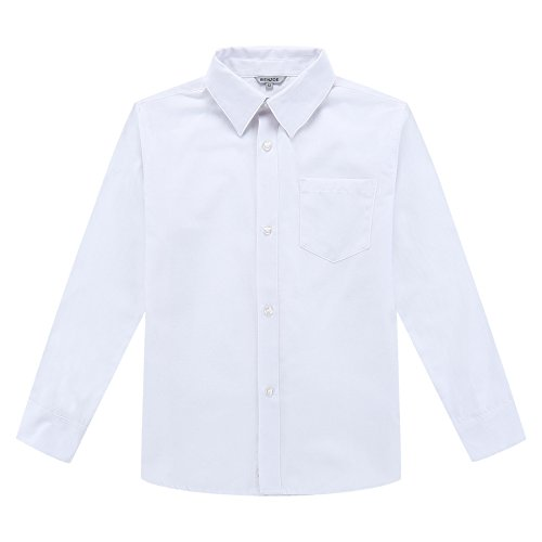 Bienzoe Niño Uniforme Escolar Manga Larga Oxford