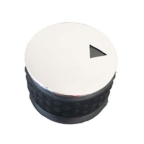 MENSI Gas-/Grill-/Ofenknopf aus Metall mit verchromtem Drehschalter, Gasgerät-Ventil, Temperaturknöpfe, 4 Stück