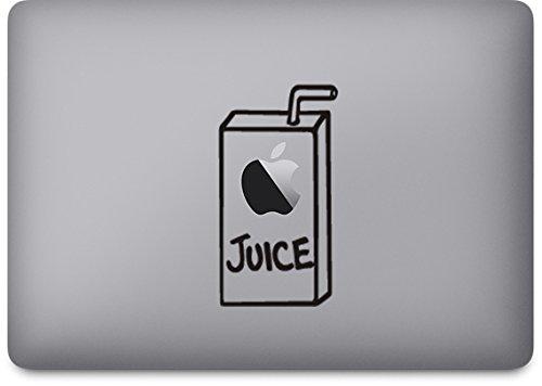 Preisvergleich Produktbild Macbook pro Air Iphone Apple Juice Apfelsaft Sticker Aufkleber Decal (Macbook Sticker Juice, Schwarz)