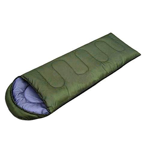 KIOio Busta da Campeggio Esterna Sacco a Pelo Ultra Leggero Impermeabile da Trekking in Cotone Sacco a Pelo con 220 * 75 (Colore : Green)