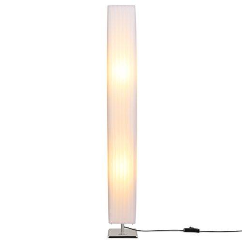 confronta il prezzo Albrillo disegno lampada da terra con paralume tubolare e base inossidabile, adatto alla lampada E27, altezza 120cm, per la camera da soggiorno, camera da letto