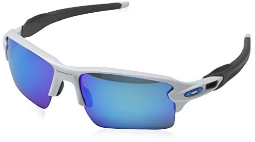 Oakley Herren Flak 2.0 Xl 918894 Sonnenbrille, Weiß (Polished White/Prizmsapphire), 59