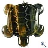 Tortuga Llavero de ojo del tigre - auténtica y piedras preciosas Schlsselbundanhnger, fuerza Animal Glcksbringer