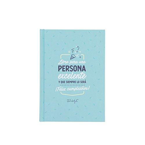 Mr. Wonderful Libro Persona excelente y Que Siempre lo será. ¡Feliz cumpleaños, Cartón, 12,5 x 17,5 x 1,2 cm