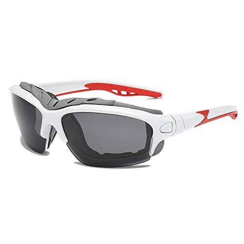 BJYG Sport-Sonnenbrille Klassische Persönlichkeit Extra große Kante Outdoor-Sport-Sonnenbrille Polarisierte Farblinse UV400-Schutzbrille Strand Sonnenbaden Strandurlaub Anti-UV-Anti-Glare-Sonnenb