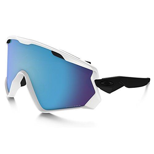 Oakley Herren Wind Jacket OO7072 Sonnenbrille, Weiß (Blanco Mate), 0