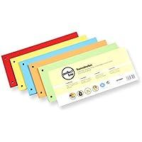 100 tiras separadoras de papel perfect line, separador de registro en 5 colores intensos,