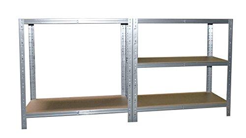 Steckregal mittelalter  Steckregal 180x50x40 cm verzinkt 5 Böden Kelleregal Metallregal ...