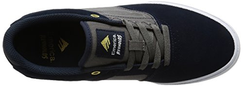 Emerica The Reynolds Low Vulc, Chaussures de skateboard homme Navy/Grey