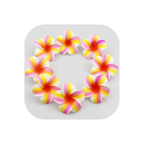 Strawberryran Plumeria 10Pcs Künstliche Schaum Frangipani-Blumen-Köpfe für Strand Hochzeit Dekorationen, Rot, M Cherry Blossom Vase Medium