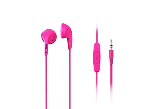 Maxell 303758 Stereo Ear Buds Plus Mic Ohrhörer mit Mikrofon 3,5 mm Klinke rosa