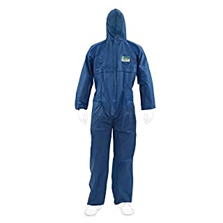 Enviro Dress SMS Disposable Overalls Category III Type 5/6–Disposable Overall With Elasticated Sides for easy fit -  Blue -  XXXXXL