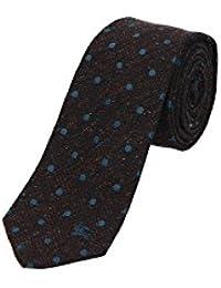 Corbata Burberry Hombre Seda Marrón y Multicolor 39448831 Marrón 7 cm