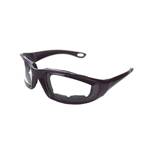 QinMM Frauen Mann Küchenhelfer Schneiden Zwiebel Pfeffer Brille Augen Schutzbrille Lila, Schwarz, Grün, Weiß