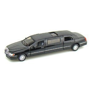 kinsmart-1-38-scale-diecast-1999-lincoln-town-car-stretch-limousine-in-color-black-by-kinsmart-by-sh