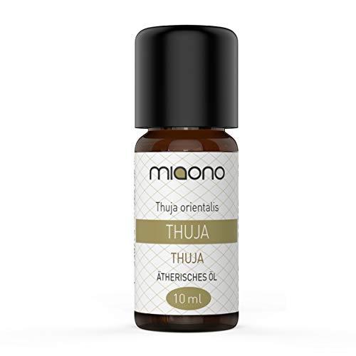 Thuja Öl - 100% naturreines, ätherisches Öl (10ml) von miaono (Glasflasche)