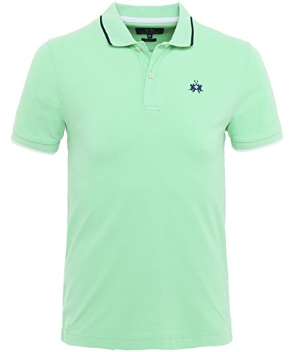 La Martina Herren Slim-Fit Poloshirt Piqué Mendez M Grün (Stricken Pique Sport-shirt)
