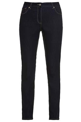 GINA LAURA Damen | Jeans | Raw Denim | Normale Bundhöhe | Bequeme Oberschenkel | 5-Pocket | Kurzgröße | bis Größe 24 | raw Denim 48 709708 91-48 - Fünf-knopf-petite Jeans