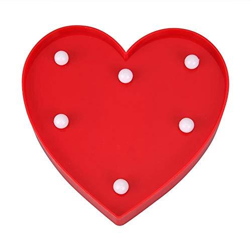 Lampe Love - Hillrong 3D Love Heart LED Veilleuse Chapiteau Décoration de Mariage Romantique (Rouge)