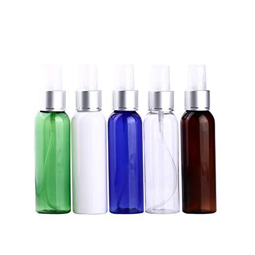 YU FENG 60 ml Aluminium-Kappen-Sprühflasche, runde Schulter, Kunststoff-Flasche, nachfüllbar, Grundierungsbehälter, 10 Stück -