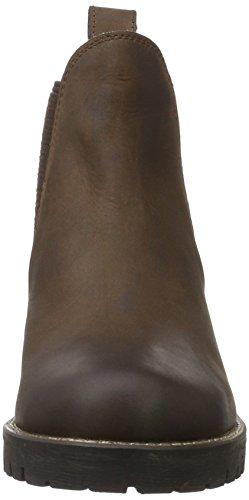 Unbekannt Leder-Stiefelette, Stivaletti Donna Marrone (Braun (300 BROWN LD))
