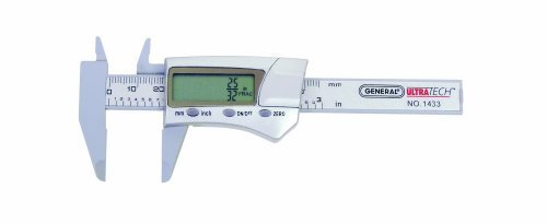 general-tools-1433-fraction-plus-digital-fractional-caliper-carbon-fiber-3-inch-by-general-tools
