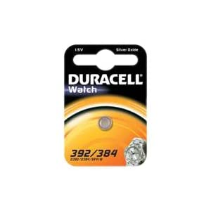 Duracell–Batterie spezielle Uhren–392/384Kleine Blister X1(Äquivalent SR41)