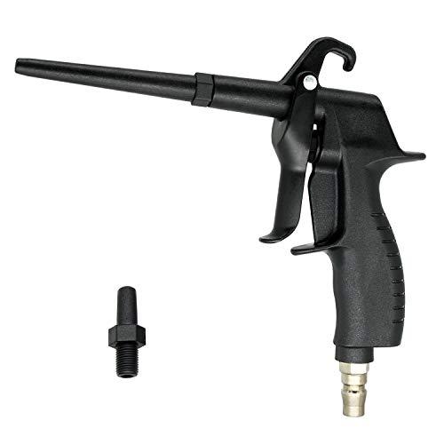 Starke Hochdruck Druckluftpistolen Ausblaspistolen, POM-Kunststoff, mit zwei abnehmbare Düsen, passend für Kompressoren
