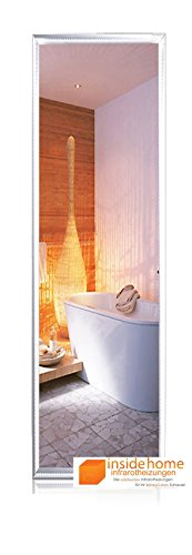 Infrarotheizung Spiegel mit Aluminium - Rahmen, 23 mm / 320 Watt - 120 x 35 x 2,5 cm