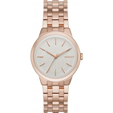 DKNY (DNKY5) Women's Quartz Watch with Rose Gold Dial Analogue Display and Rose Gold Stainless Steel Bracelet NY2383