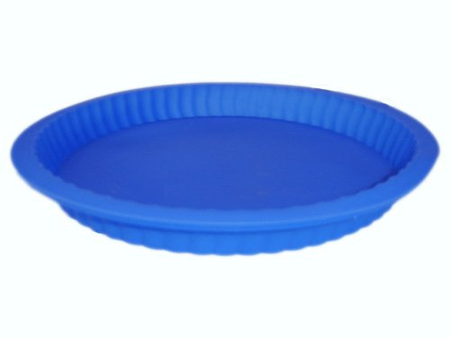 Silicon / Silicone Pie Tray, Quiche or Flan Tray. Available in pink, blue, red or aqua.