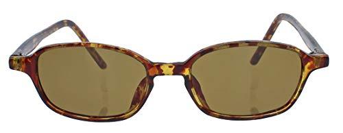 kleine Retro Sonnenbrille für schmale Gesichter 50er 60er Jahre Vintage Modell LFB (Hornbrille oval)