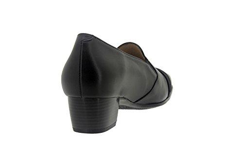 Scarpe donna comfort pelle Piesanto 7106 comfort larghezza speciale Negro