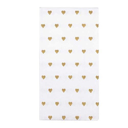 100 Herz-Taschentücher gold für Freudentränen auf der Hochzeit (100)