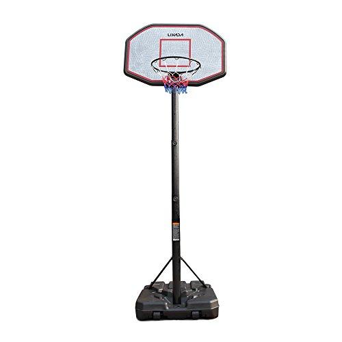 Lixada Panier de basket-ball Portable réglable 2.0-3.05m Jeu de Basket-ball Tube en acier
