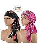 EINSKEY Turban Damen Sommer UV Schutz Microfaser Kopfbedeckung Elegant Bandana Kopftuch Set für Chemo