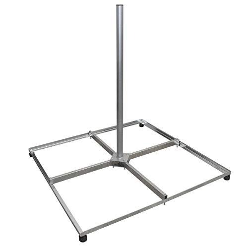 PremiumX Balkonständer Stahl 4X 50x50 Holland mit 1m Mast Flachdachständer SAT-Ständer