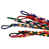 Alcoa Prime 6pc Handmade Knotted Thread Woven Friendship Bracelets Ankle Cuff Adjustable