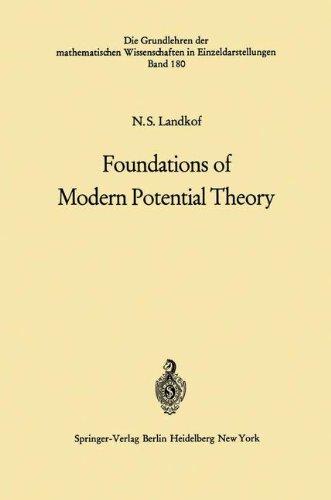 Foundations of Modern Potential Theory (Grundlehren der mathematischen Wissenschaften) por Naum S. Landkof