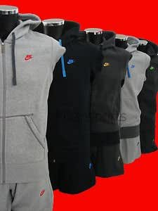 Nike Mens Tracksuit Full Zip Hoody Jogging Bottoms Dark