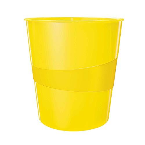 Leitz WOW Papierkorb, 15 Liter, Kunststoff, gelb, 52781016