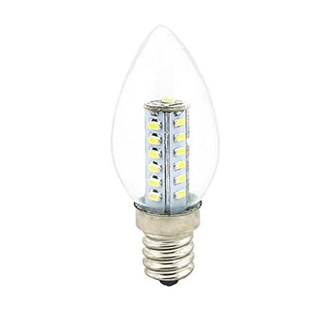 SZXC E12 Ampoule Candelabra LED, 3W E12 Base, Blanc Chaud 3000K Blanc 6000K Ampoules Bougies LED, 25 Watt Incandescent Ampoules, Non-dimmable , 3W , warm white high quality