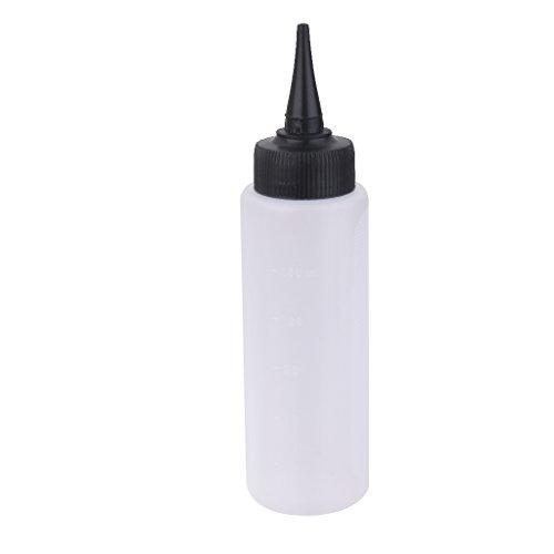 Sharplace 150ml Bouteille Coloration Teinture Décoloration de Cheveux Applicateur de Mesure Echelle Outil Salon de Coiffure