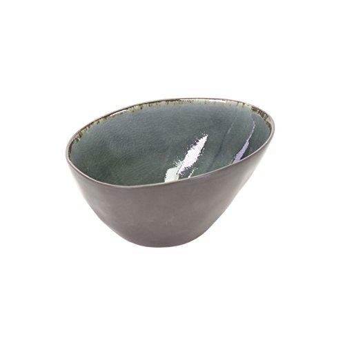 Müslischale Schale Schälchen Keramik Grau Anthrazit Krakelee Weihnachtsgeschenk Küche Haushalt Geschirr