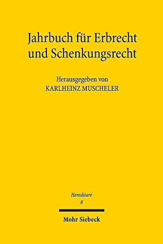 Hereditare - Jahrbuch für Erbrecht und Schenkungsrecht: Band 8