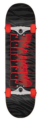 Creature Schwarz Rot Ripper - 7.75 Inch Skateboard Komplett (One Size, Schwarz)