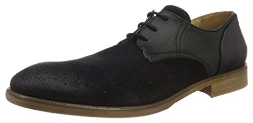 H.D. Hudson Mfg Co. Rogers Suede Navy, Chaussures à Lacets Homme