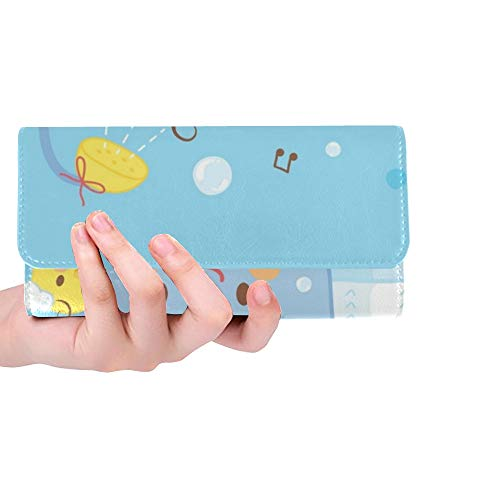 Einzigartige benutzerdefinierte niedlichen Baby Bad Dusche Frauen Trifold Wallet Lange Geldbörse Kreditkarteninhaber Fall Handtasche