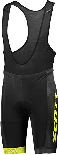Scott RC Team ++ Fahrrad Trägerhose kurz schwarz/gelb 2018: Größe: XXL (58)