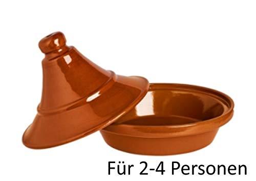 Alar Tajine Schmortopf 2422 - Original Tajine aus Keramik, Topf 1,2 Liter Ø 22 cm, Höhe 17,5 cm